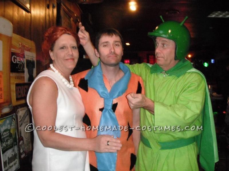 Home Made Flintstones Group Halloween Costume - 2