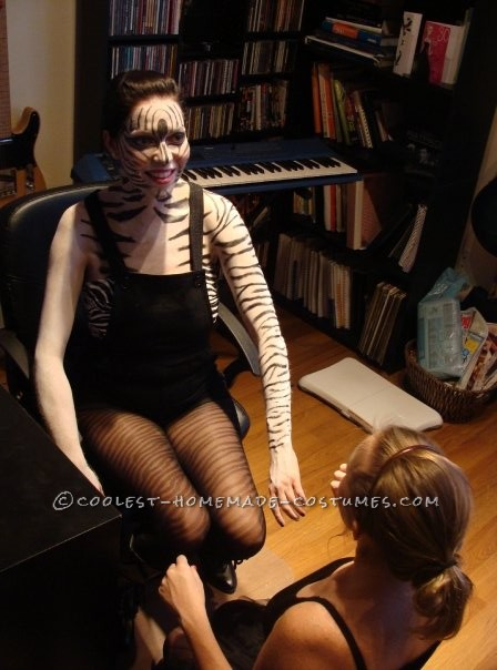 Coolest Zebra Print Makeup Costume - 3