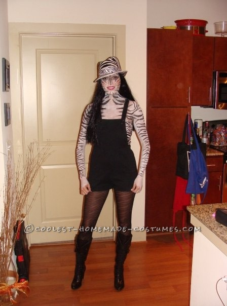 Coolest Zebra Print Makeup Costume - 4
