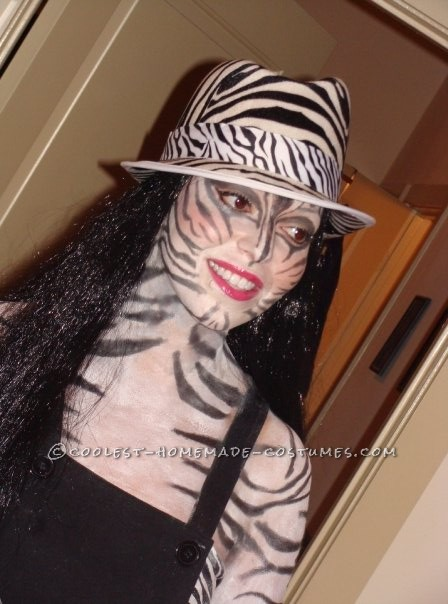 Coolest Zebra Print Makeup Costume - 1