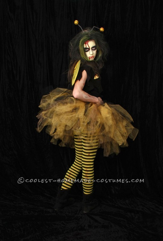 My daughter and her Zombee costume! My daughter hates to be \