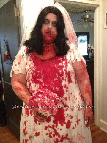 Each year there is a zombie walk done in Columbia, SC in October.  This year I wanted to punch things up a bit and a zombie bride.  So I bo
