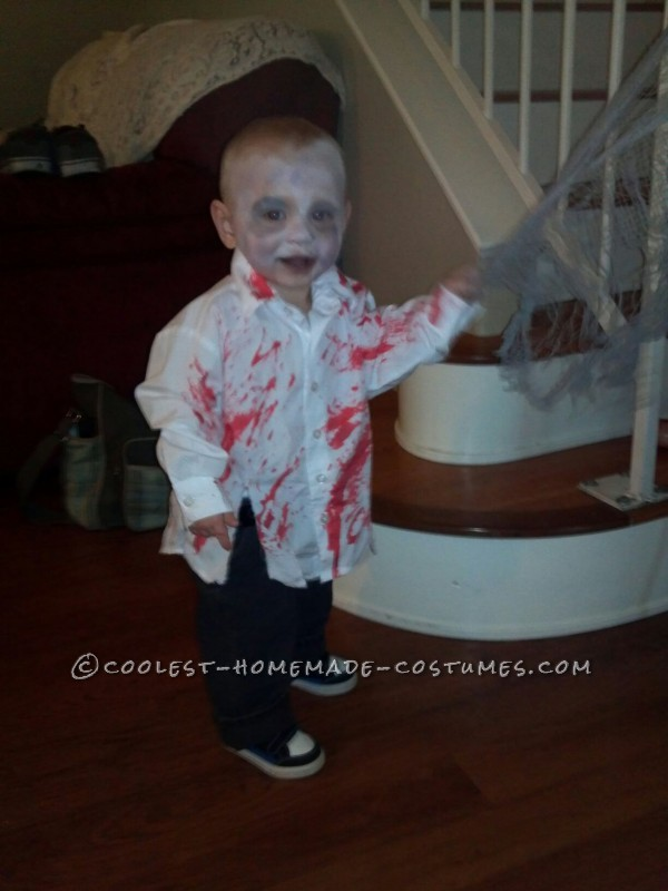 Coolest Zombie Toddler Homemade Halloween Costume Idea - 3