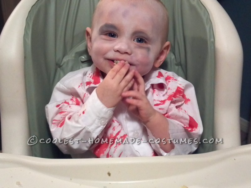 My son was 14 months old during this time and this was his first real Halloween.I wanted to turn him into something scary and cute at the same time
