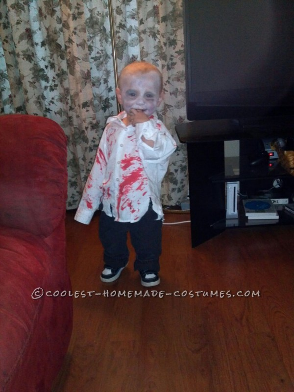 Coolest Zombie Toddler Homemade Halloween Costume Idea - 2