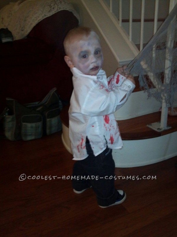 Coolest Zombie Toddler Homemade Halloween Costume Idea - 1
