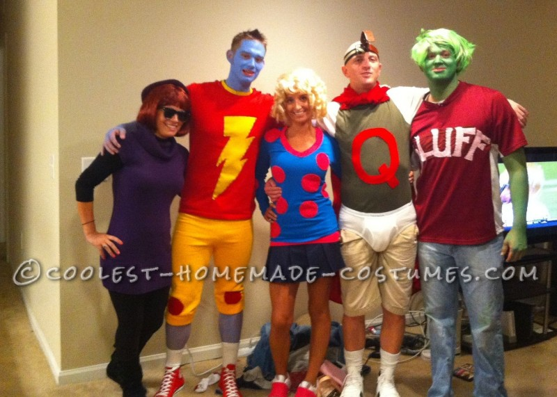 Coolest Doug! Homemade Group Halloween Costume: We sat around wondering what we should do as a group...began talking about the best old nicktoons shows of our childhood, and BOOM...Doug. Oh how we l