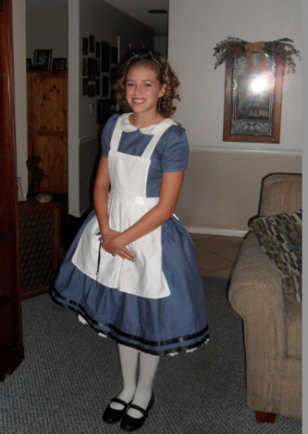 Homemade 1865 Alice in Wonderland with Hoopskirt Costume