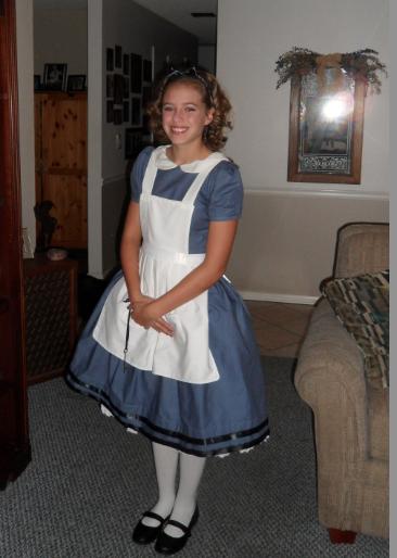 Homemade 1865 Alice in Wonderland with Hoopskirt Costume
