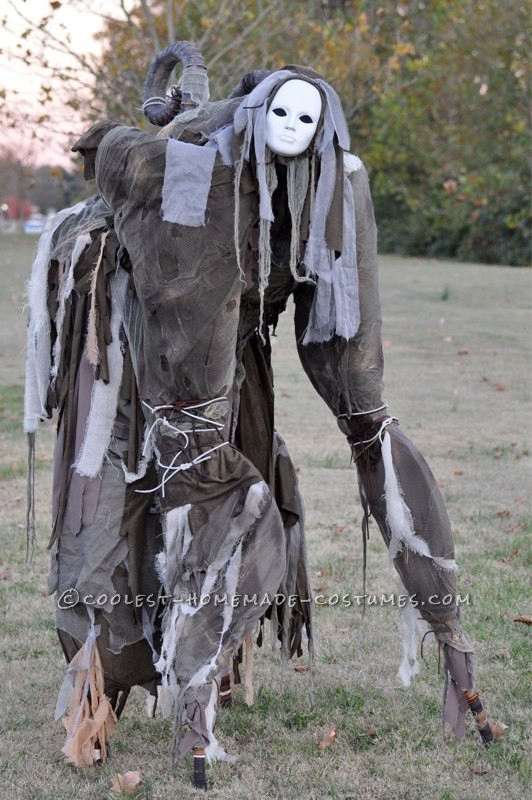 Terrifying Four-Legged Stilt Spirit Costume