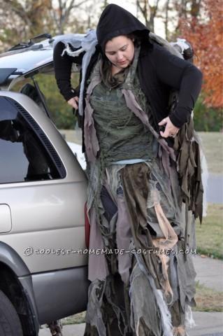 Terrifying Four-Legged Stilt Spirit Costume