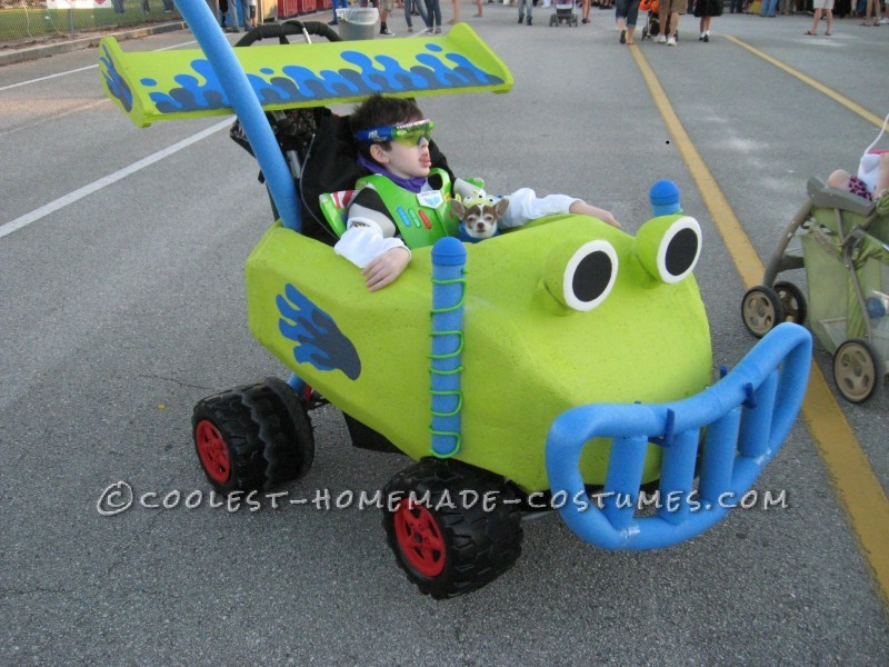 Coolest Homemade Buzz Lightyear and RC Wheelchair Costume