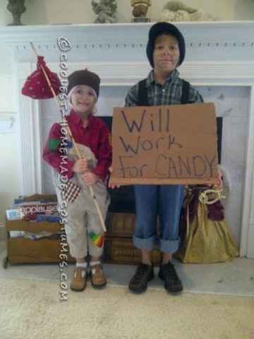 Last-Minute Child Costumes: Halloween Bums: We always make several Halloween events each year and thus the kids want different costumes for each one we go to.  So this year, for one of the trun