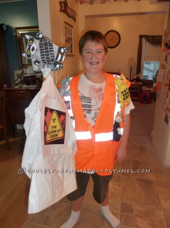 Original Roadkill Cleanup Guy Homemade Costume