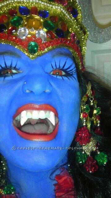 Cool Homemade Kali Costume, the Six-Armed Hindu Blue Goddess - 1