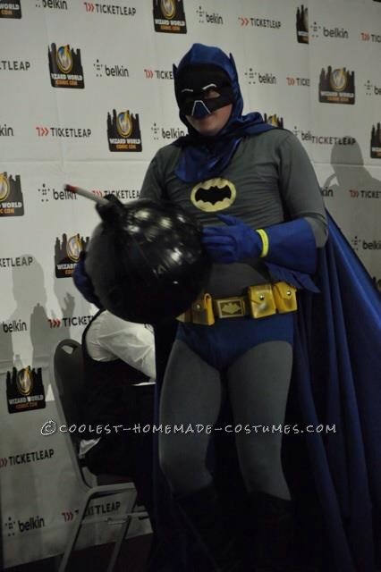 Cool DIY Adam West Style Batman Costume with Bomb!