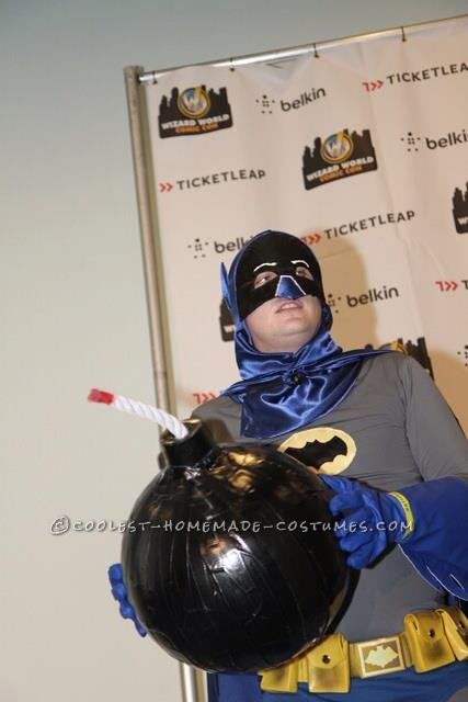 Cool DIY Adam West Style Batman Costume with Bomb! - 2