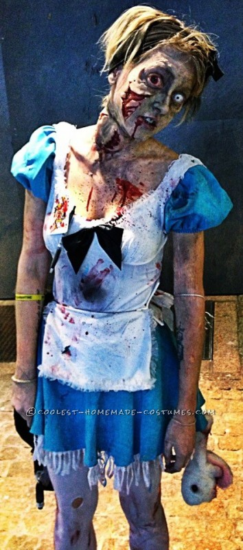 Horrific Alice in Zombieland Costume and Makeup - 1
