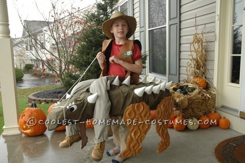 Amazing Dinosaur Trainer Illusion Costume for a Boy