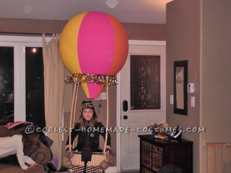 Amelia Earhart in a Hot Air Balloon Costume