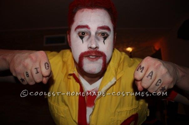 Angry Ronald McDonald and Wendy Couple Costume - 9