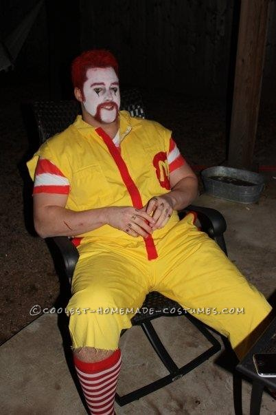 Angry Ronald McDonald and Wendy Couple Costume: This year I thought it would be fun to create a back story for two of the most well know fast food characters. Ronald and Wendy are in a relationship