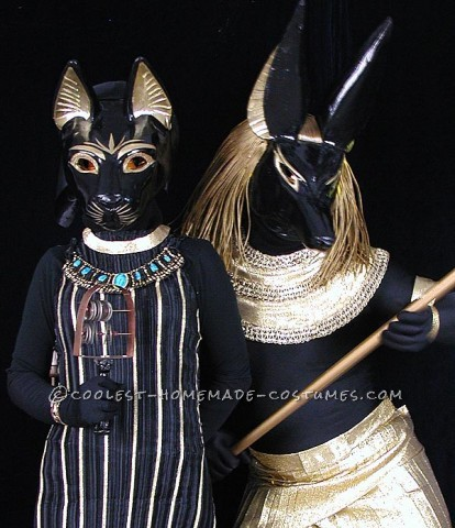 Both of these are completely hand made costmes for Halloween of 2012; I created the masks and my wife, Bastet in the pictures, created the costumes.