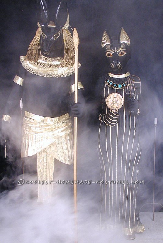 Anubis and Bastet in Classic Pose