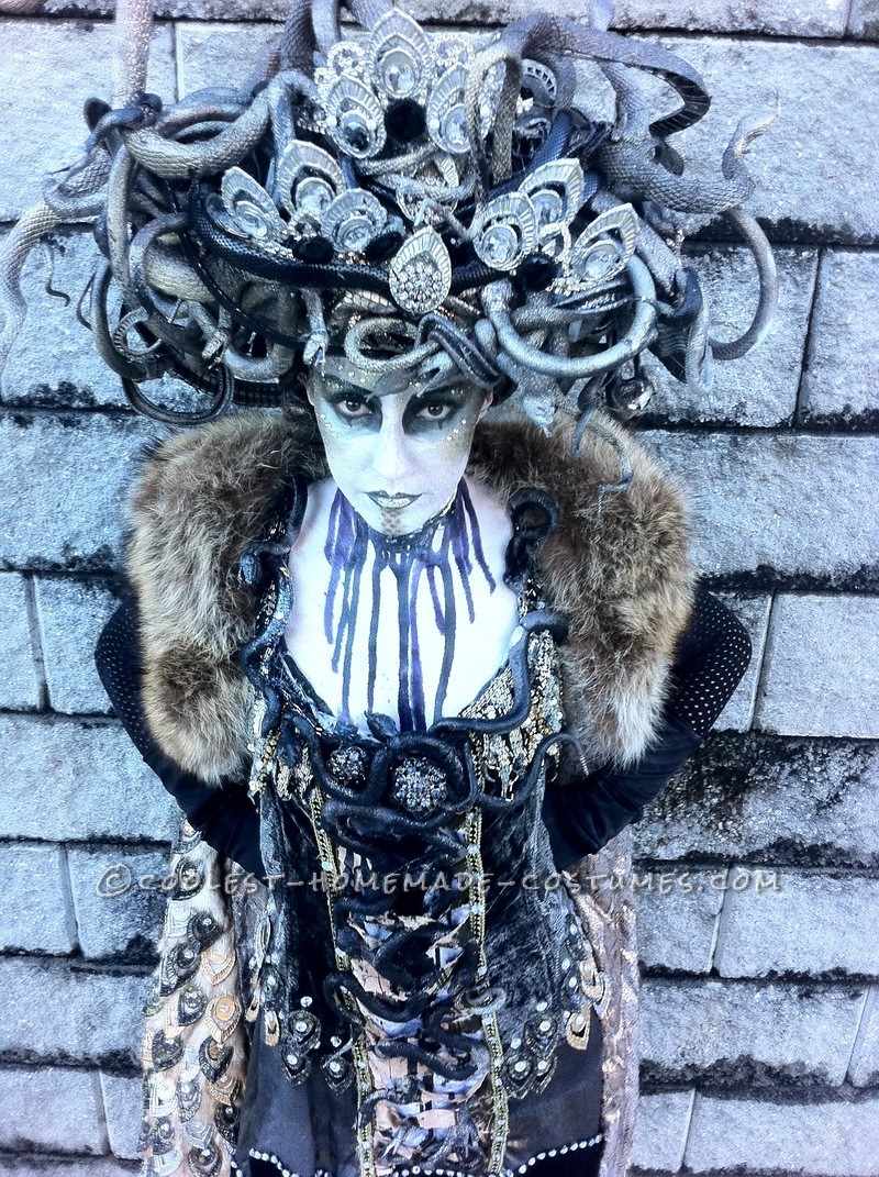 Art Deco Medusa was handmade by myself and personally styled from the shoes to the headdress, leaving no element un-finessed. The pattern for the dre