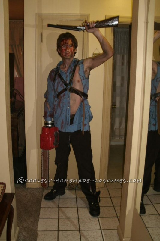 Homemade Ash Williams Costume from The Evil Dead 2