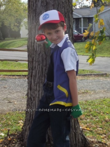 Our youngest son wanted to be Ash Ketchum from Pokemon for Halloween. I spent several days scouring costume ideas on the internet (even store bought