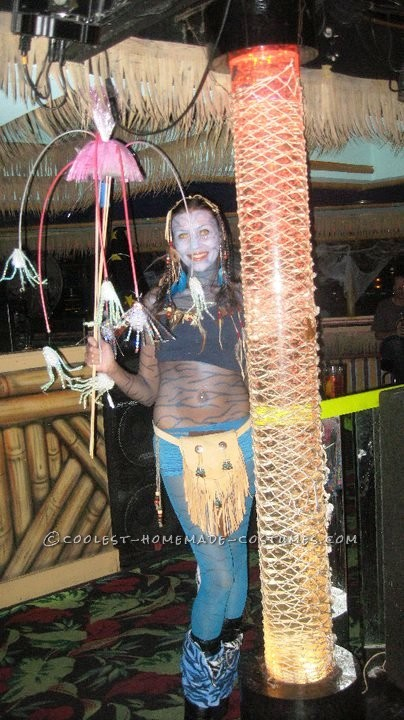 Homemade Avatar Halloween Costume: I absolutely LOVED making this Avatar Halloween costume!  The movie came out that year, and I wanted to be her but the store costume was boring...so