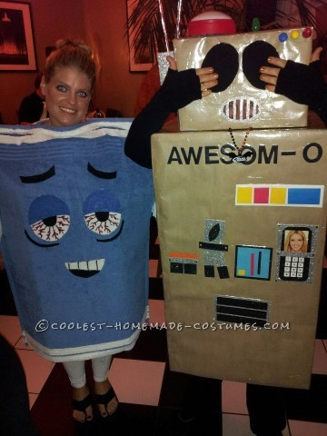 This year I went as Awesom-O from South Park. I went in a group with about 10 other people including the 4 main characters, Towelie, Mr. Hanky, Kyle&