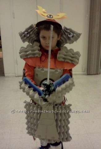 Cool Home Made Samurai Armor from Egg Crates