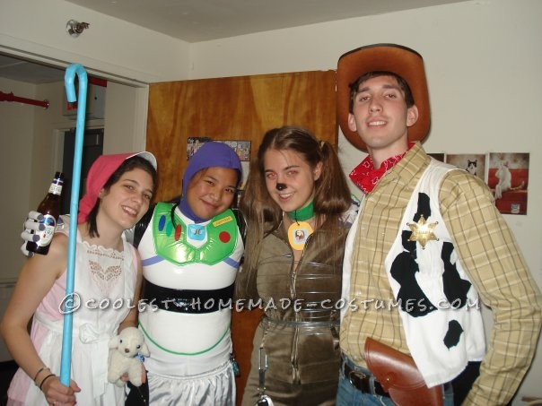The group:  Bo-Peep, Buzz, Slinky, Woody