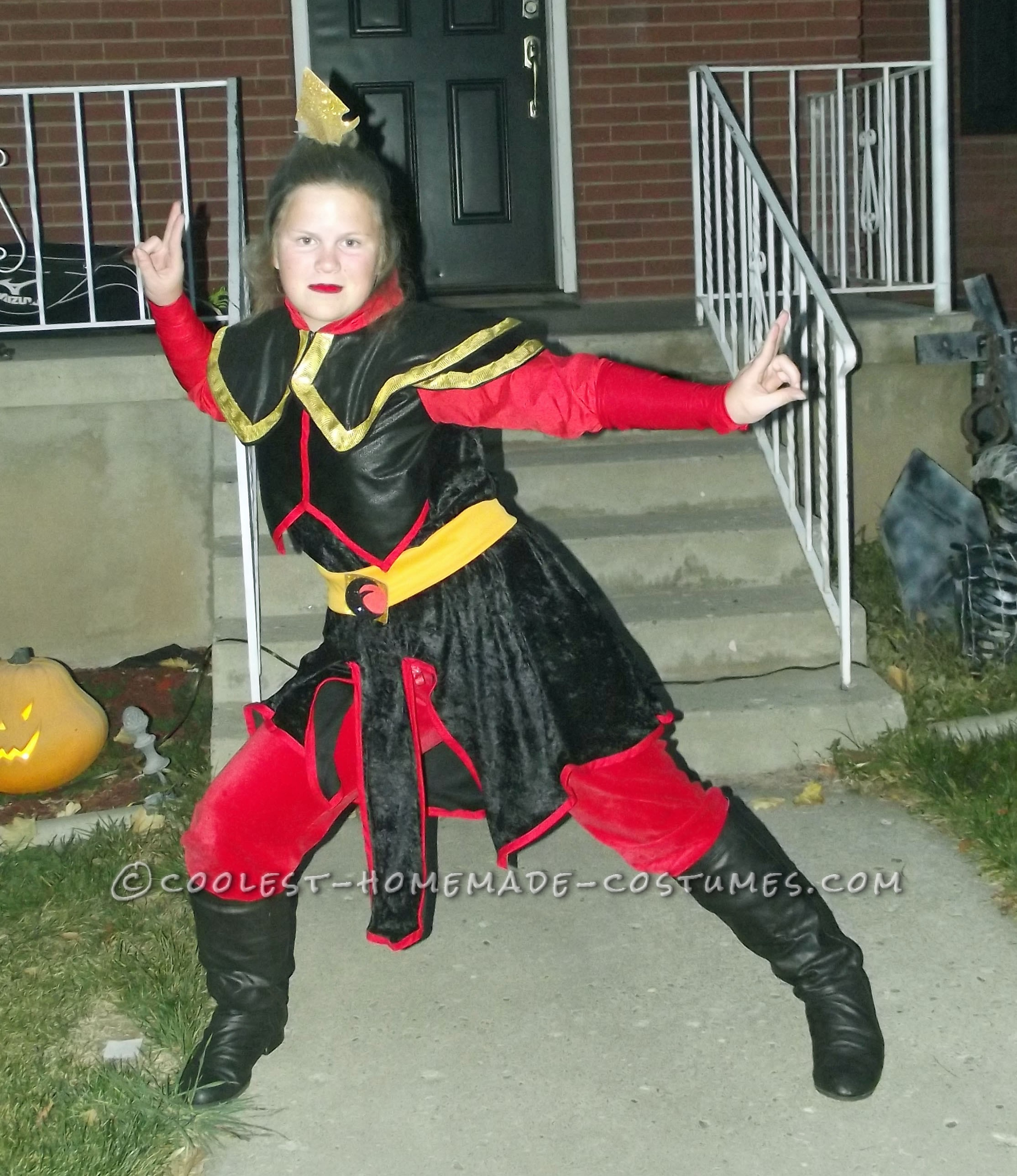 """My daughter loves Avatar, and I of course have no clue about it, but she made me make a costume of the """"fire bender"""" princess Azula?!?!I don't u"""