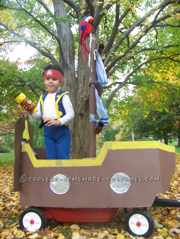 How to Turn a Child's Wagon Into a Pirate Ship for Halloween: How to turn a child's wagon into a Pirate Ship for Halloween. We took our radio flyer wagon and decided to use it as the inside of the vessel. It took