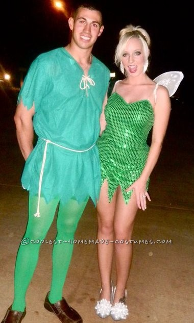 Best Peter Pan and Tinkerbell Couple Halloween Costume - 1