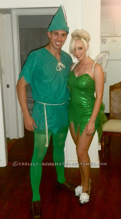 Best Peter Pan and Tinkerbell Couple Halloween Costume - 2