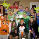 Biggest Toy Story Group Costume Ever!