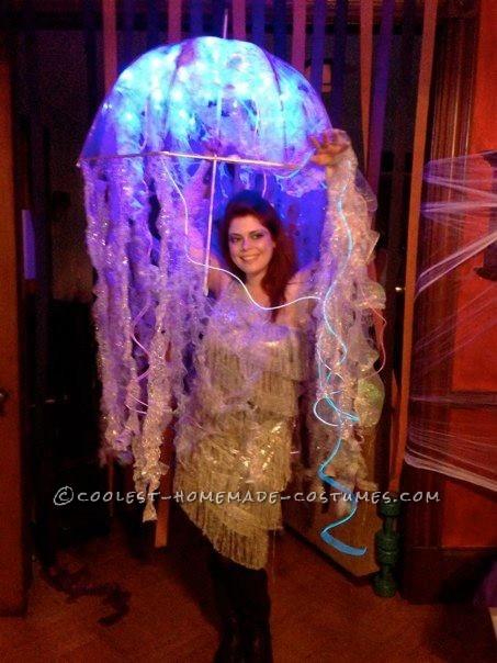Cool Homemade Bio-Luminescent Jellyfish Costume