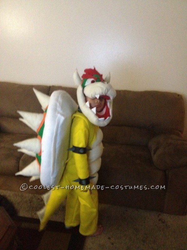 Cool DIY Bowser (King Koopa) Halloween Costume for a Boy - 5