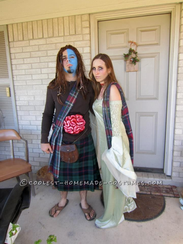 Braveheart's William Wallace and Murron Couple Costume