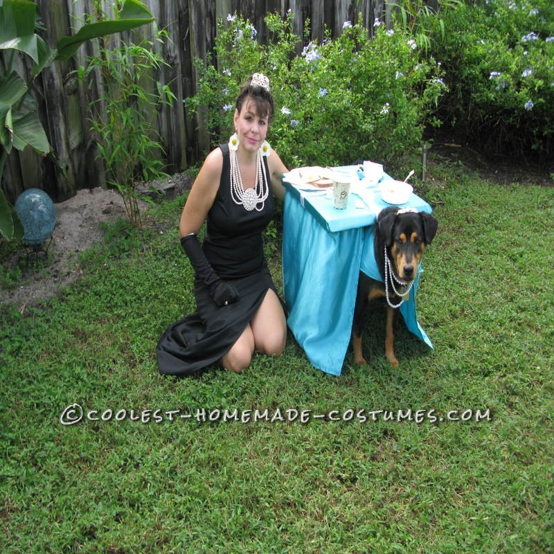 Breakfast at Tiffany's Owner and Dog Costume - 1