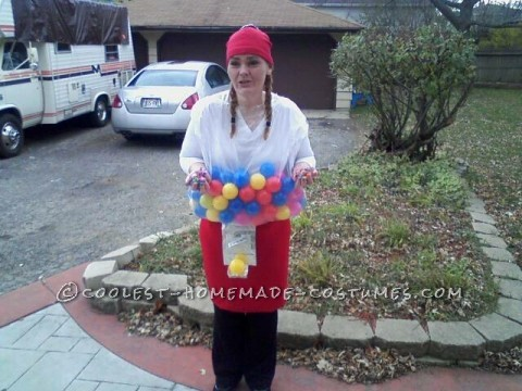 Coolest Homemade Bubble Gum Dream Machine Costume