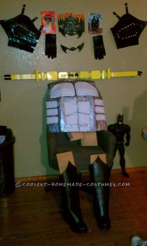 Caped-Crusader Batman and Batgirl Couple Halloween Costumes: Our caped-crusader Batman and Batgirl Couple Halloween Costumes started a month ago. We decided to home make these special costumes. I