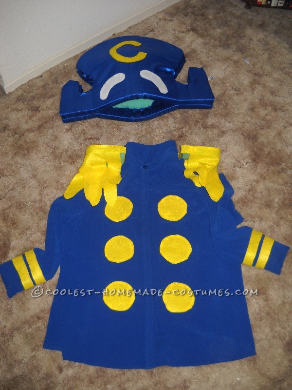 Homemade Captain Crunch Halloween Costume