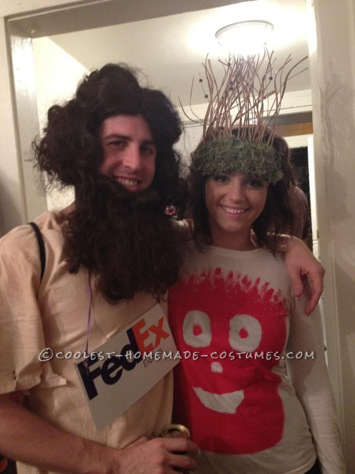 Cool Chuck Noland and Wilson Cast Away Couple Costume
