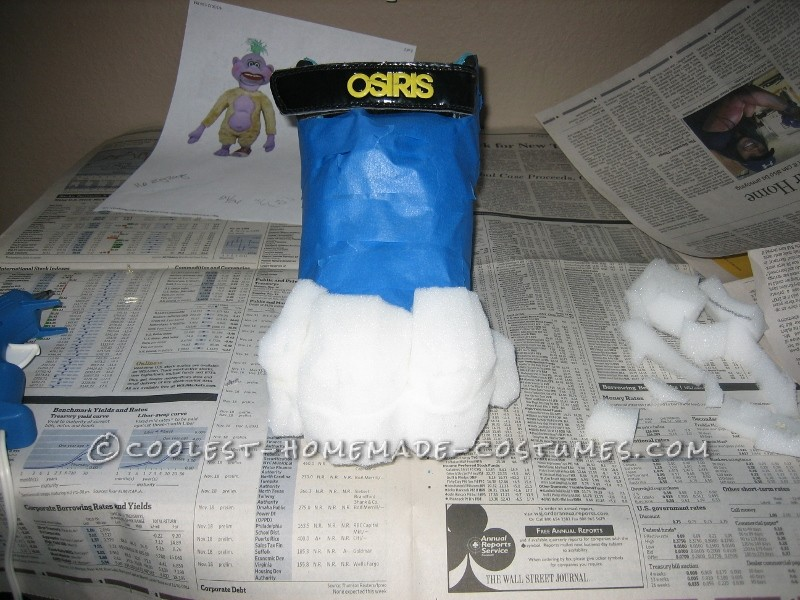 Adding the foam toes