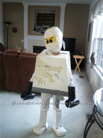 Cool Homemade LEGO Ninjago Zane White Ninja Costume